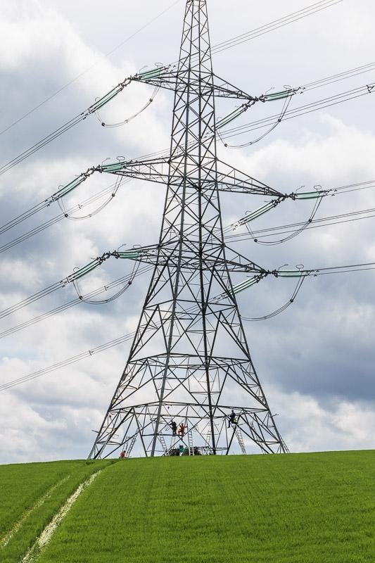 pylon near Glanton