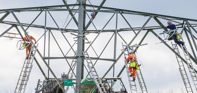 pylon work Breamish Valley