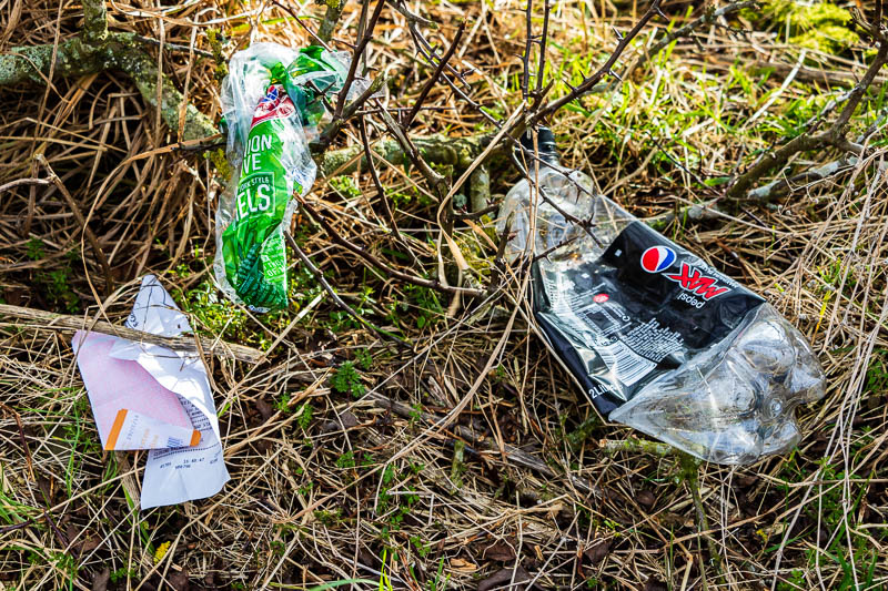 rubbish in Breamish Valley