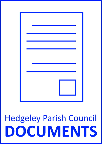 Hedgeley Parish Council documents button that links to a page of published Parish Council documents