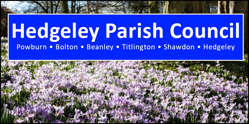 Hedgeley Parish Council Northumberland header