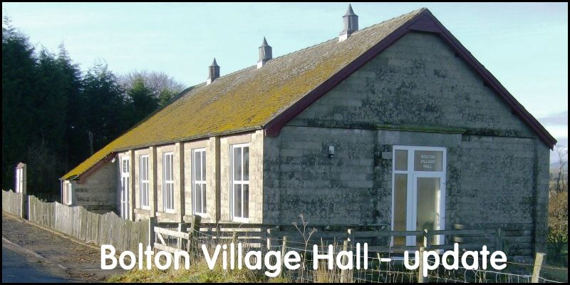 Bolton Village Hall Reopening Update