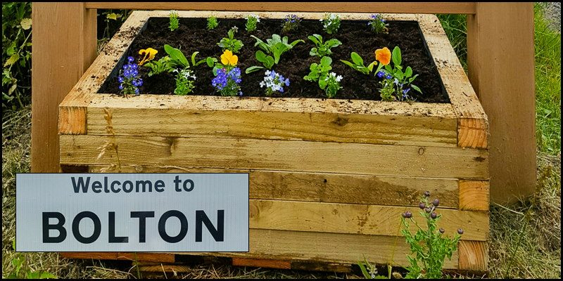 Bolton Road Sign Planters