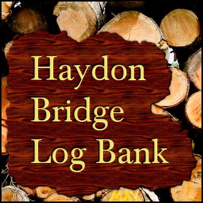 Haydon Bridge Log Bank in Northumberland