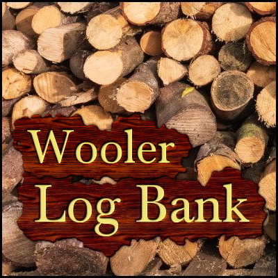 Wooler Log Bank in Northumberland