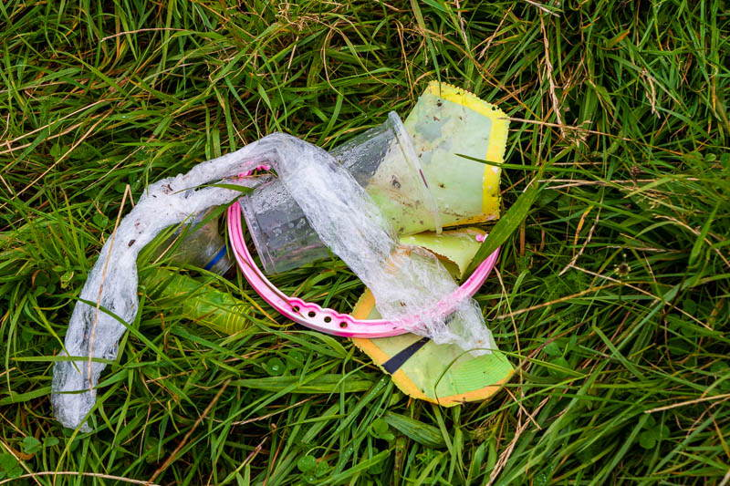 discarded plastic