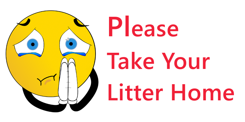 please take your litter home poster