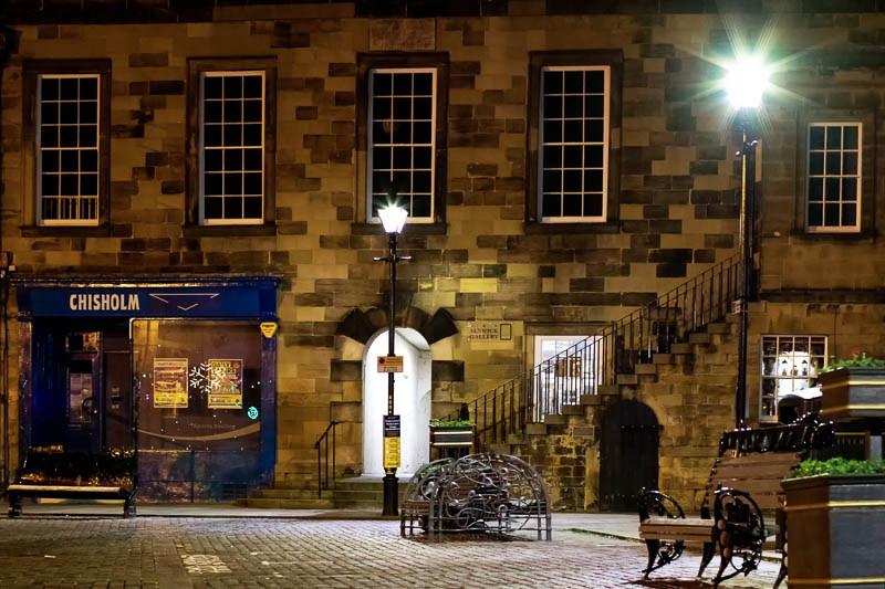 Night time image of street lamp flickering