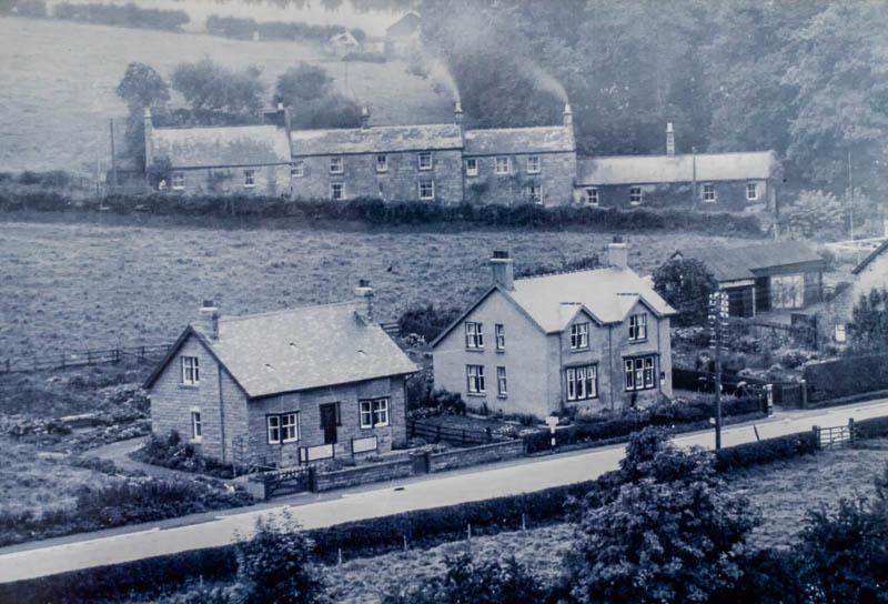 vintage photo of builsings in Powburn