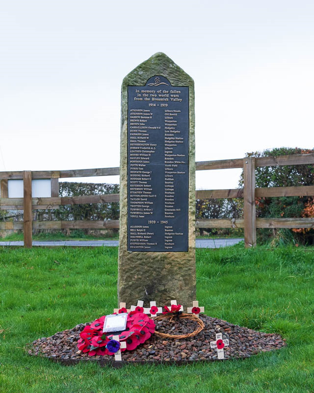 Photo of Breamish Valley War Memorial 2020