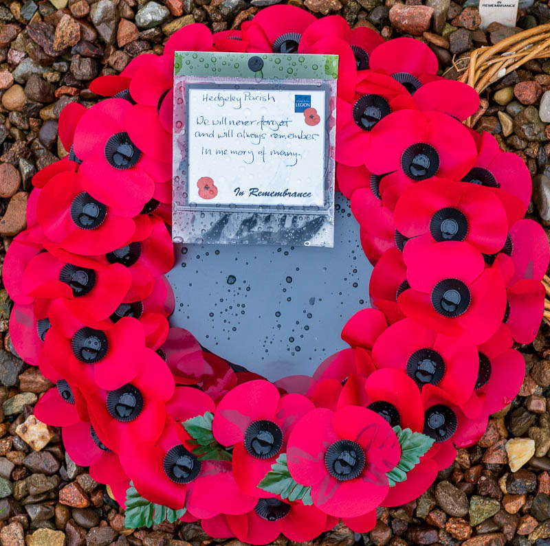 Colour image of Hedgeley Parish Community Wreath 2020