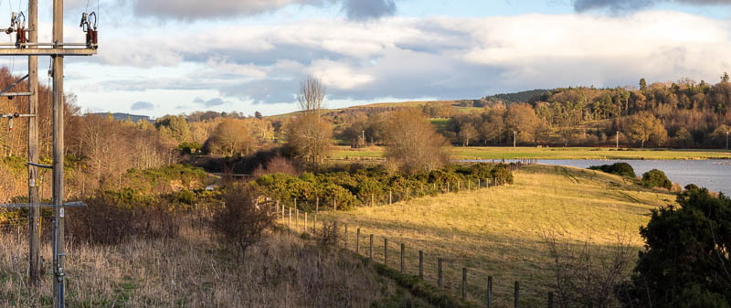 panorama of Breamish Valley near Hedgeley Lakes