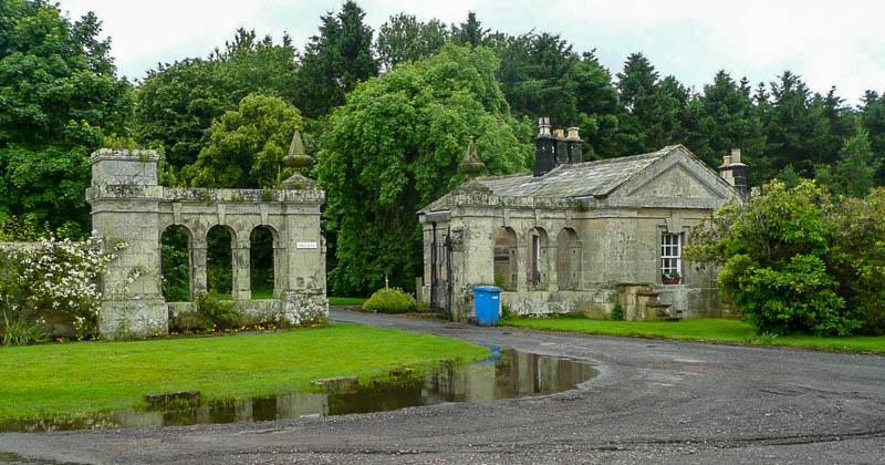 Photo of East Lodge at Shawdon Hall looking towards the driveway