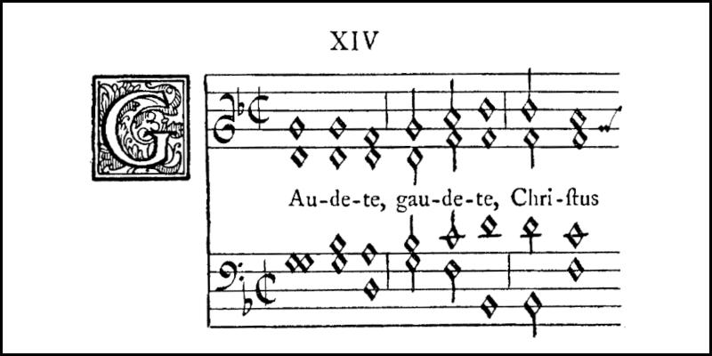 copy of opening of Gaudete from original manuscript