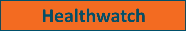 A mainly decorative banner with the heading 'Healthwatch' written on it.