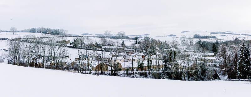Photo of Powburn village in the snow
