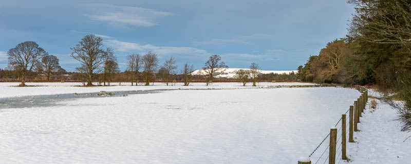 Photo of snow-covered fields