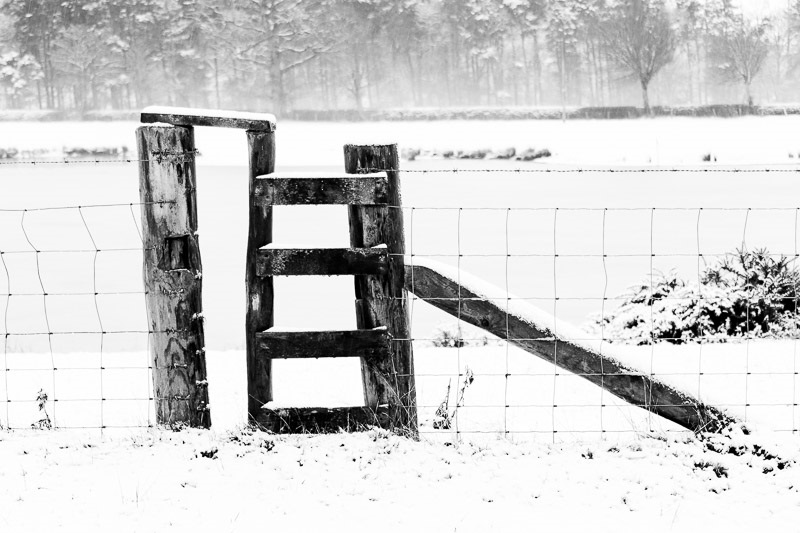 Photo of stile in a fence