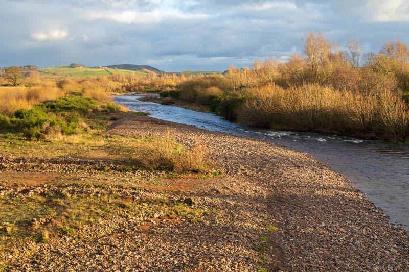 Photo of River Breamish in golden light