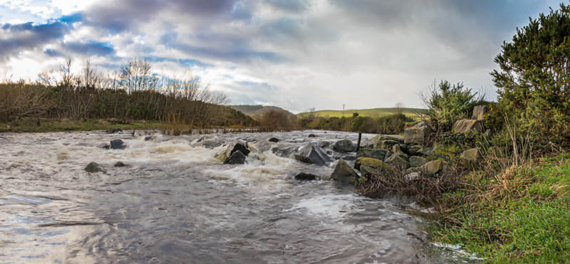 Photo of rocks across River Breamish