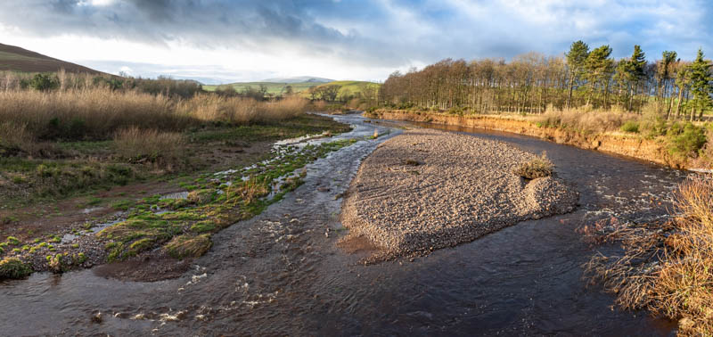Photo of River Breamish from footbridge at Branton village