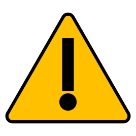 image of a yellow warning triangle