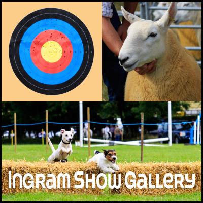 Photo collage with the words 'Ingram Show Gallery'