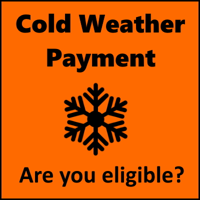 Info graphic with the words 'Cold Weather Payment - are you eligible?'