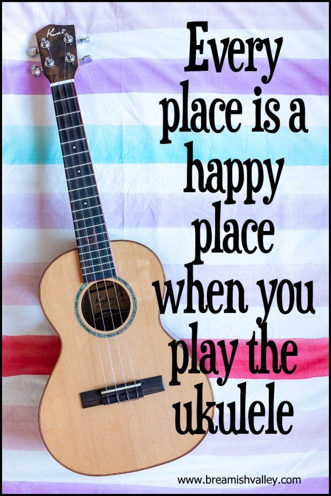 Poster with photo of ukulele