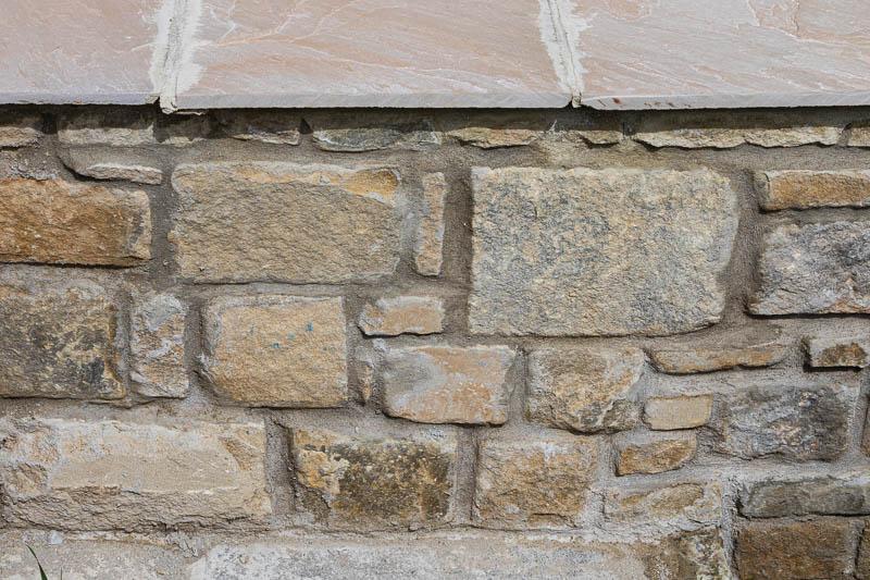 Close up photo of stone wall