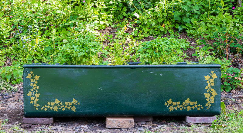 Photo of water tank used as a flower planter