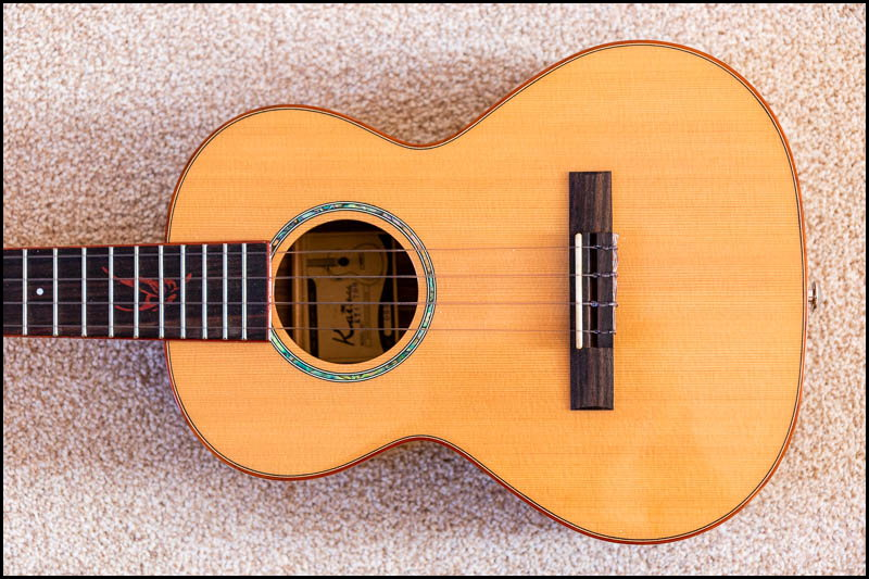Photo of body of tenor ukulele