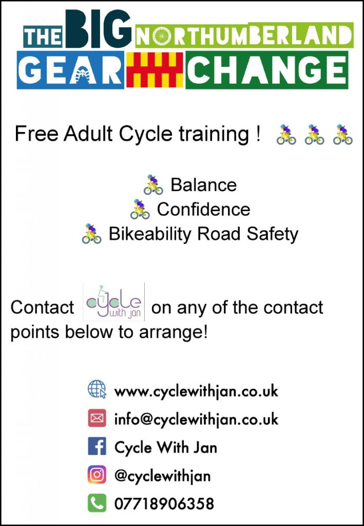 Poster advertising cycle training