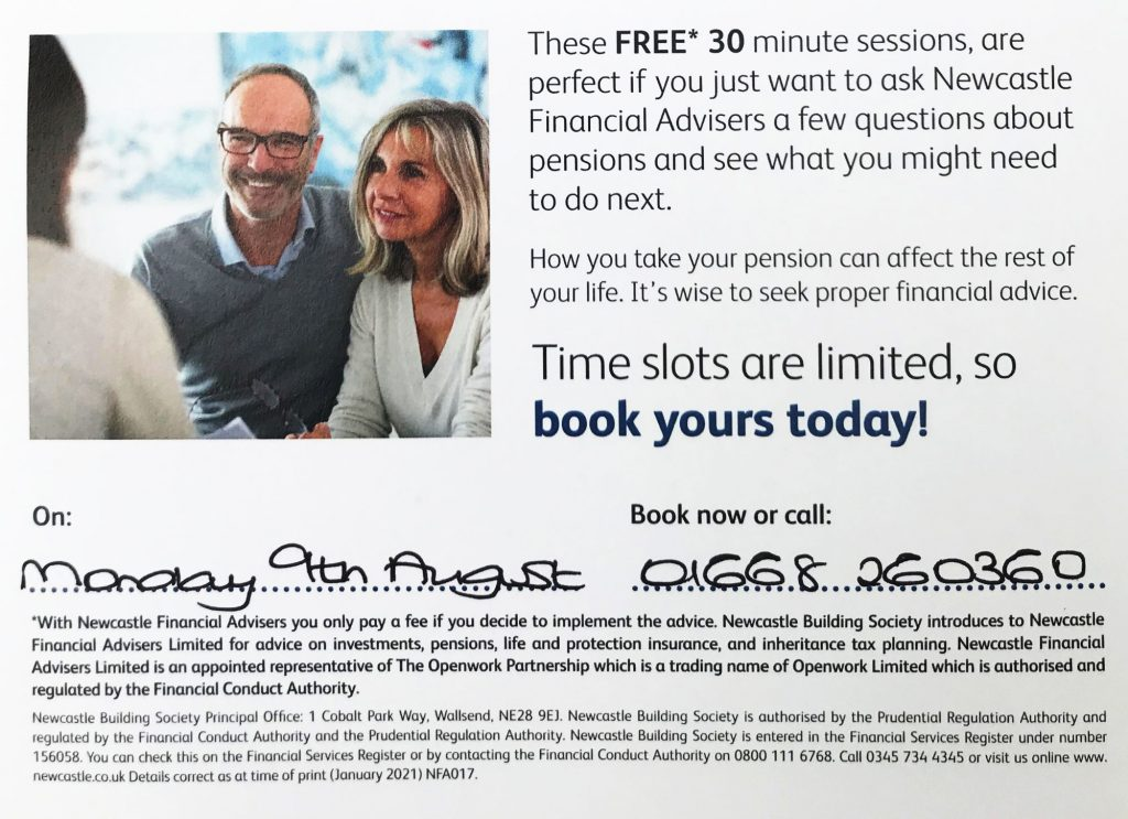 Poster advertising a free Pension Clinic